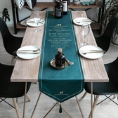 北歐桌旗現代簡約輕奢餐桌布電視櫃茶幾鞋櫃絲絨美式桌旗蓋布床旗 聖誕交換禮物