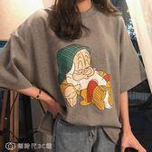 短袖 網紅短袖t恤女寬鬆學生韓版卡通百搭打底衫上衣ins潮 【創時代3C館】
