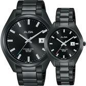 ALBA雅柏 城市情人時尚對錶-黑x42+32mm VJ42-X250SD+VJ22-X280SD