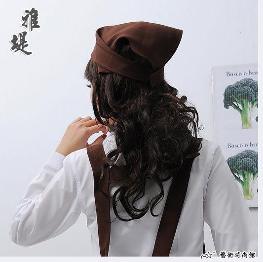 【T-05C】日式工作頭巾(咖啡)-餐廳 廚房 園藝 工作業務專用