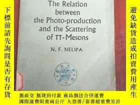 二手書博民逛書店the罕見relation between the photo-production and the scatte