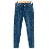 秋冬8折[H2O]修飾顯瘦水洗牛仔長褲 - 藍色 #9658008