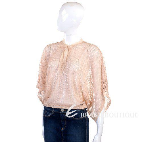 Kristina Ti 粉橘色網狀扇型上衣 0920028-05
