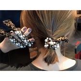 韓版珍珠打結高彈力髮繩(1入) 款式可選【小三美日】髮飾