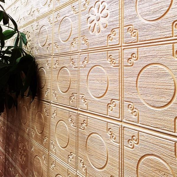 新中式3D立體牆貼紙天花板客廳電視背景牆軟包牆紙自黏裝飾防撞貼 滿天星