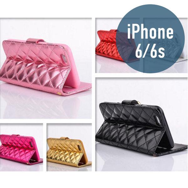 iPhone 6 (4.7吋) 小香風皮套 插卡 側翻 手機套 手機殼 保護套 保護殼 配件