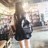 後背包-真皮-時尚黑色休閒牛皮女側背包73yi17【巴黎精品】