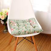 田園時尚玫瑰加厚坐墊 辦公室學生椅墊餐椅墊 (二入)