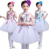 六一兒童演出服 女童合唱舞蹈服幼兒表演主持 LR1868【Pink 中大尺碼】
