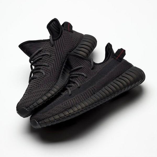 ~[TellCathy]adidas Yeezy Boost 350 V2 Black 黑天使 鞋帶反光 運動 休閒  男女鞋 FU9006
