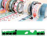 Shinzi Katoh 加藤真治 紙膠帶15mm(黑色火車)★funbox生活用品★_ZI02642