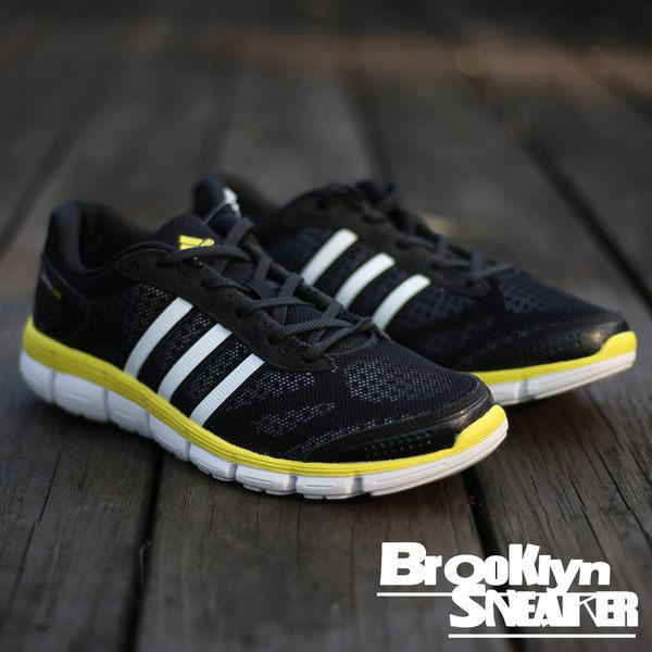 Adidas CC Fresh M 黃邊 黑 網布 透氣 慢跑鞋 (布魯克林) 2017/4月 S76750