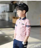 童裝男童春裝長袖T恤新款兒童大童上衣POLO打底衫韓版潮7 莫妮卡小屋