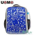 【UnMe】超輕閃亮造型後背書包 亮面寶藍 3225N-BU (1~3年級)