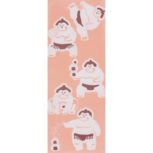 【日本製】【和布華】 日本製 注染拭手巾 相撲力士圖案(一組:3個) SD-5037-3 - 和布華