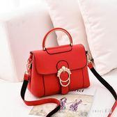 手提包 女包紅色新娘包包結婚包 新款潮韓版時尚休閒單肩斜挎包 df10446【Sweet家居】