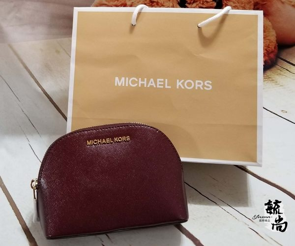 美國MICHAEL KORS  (MK)紋防刮 小貝殼造型 手拿包 黑色/藍色/酒紅色 **限時搶購 **$1880