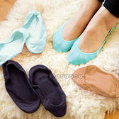 【BlueCat】日式無印良品風簡約防滑糖果隱形船型襪