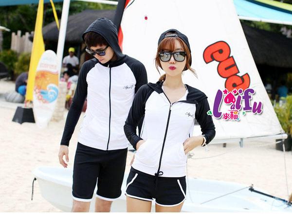 得來福外套,V287泳衣貓熊情侶長袖外套可內搭泳衣正品,單女外套售價599元