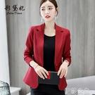 外套 彩黛妃春夏新款時尚韓版大碼顯瘦西服純色休閒女士百搭潮西裝