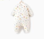 兒童睡袋童泰秋冬嬰兒純棉床品用品男女寶寶分腿睡袋兒童拉錬防踢被 寶貝計書