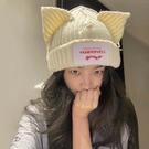 針織帽 歐美小眾設計個性貓豬耳朵羊毛針織毛線帽可愛保暖秋冬男女帽子潮 星河光年