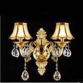 水晶壁燈客廳全銅LED臥室床頭燈現代簡約過道燈具墻燈樓梯igo 全館免運