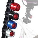 【GD241】鋁合金自行車後燈 激亮爆閃自行車尾燈 紅寶石LED車燈 腳踏車燈 EZGO商城