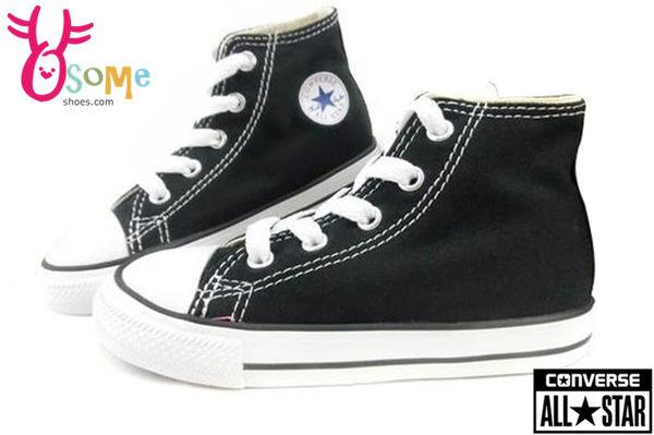 All STAR★Converse帆布鞋 小童基本款高筒帆布鞋 G9809#黑◆OSOME奧森童鞋/小朋友