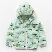 可愛印花紗布透氣防曬薄外套 鱷魚綠 童裝 外套