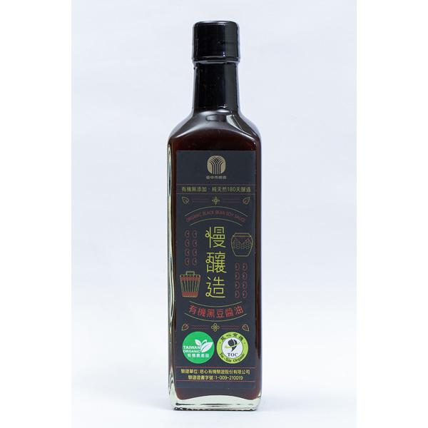 台中市農會有機黑豆醬油慢釀造500ml