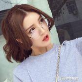 眼鏡 韓國復古眼鏡框男款潮韓版圓形眼鏡架女全框金屬平光鏡 Cocoa
