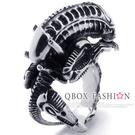 《 QBOX 》FASHION 飾品【R10021026】精緻個性異形設計造型鑄造鈦鋼戒指/戒環(推薦)