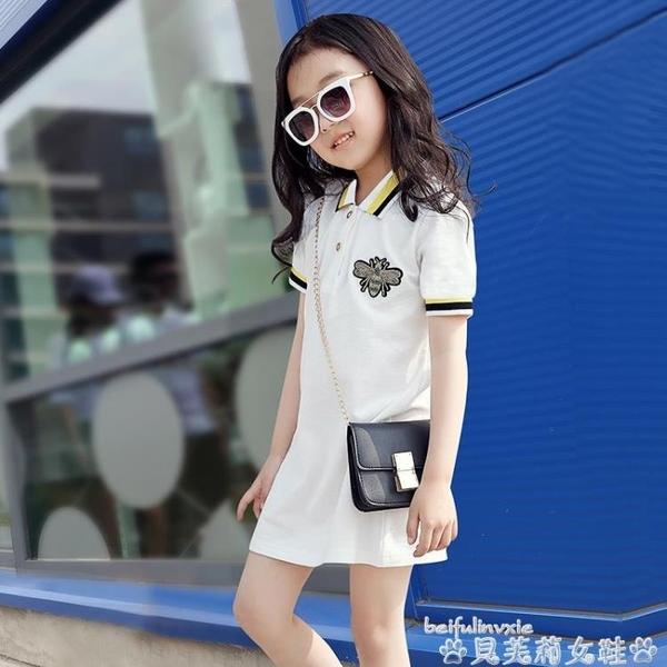 親子裝高端polo親子裝一家三口四口夏裝2020新款母女子洋氣網紅連身裙 新年禮物