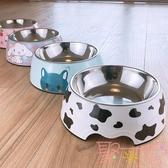 狗盆狗碗貓碗貓糧盆不銹鋼狗食盆犬飯盆單碗寵物用品【聚可愛】