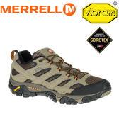 【MERRELL 美國 男款 MOAB 2 GORE-TEX《棕》】ML06035/休閒鞋/登山鞋/運動鞋★滿額送