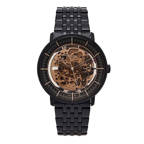 【Fossil】Chase鏤空機械時尚鋼帶摩登腕錶-霸氣黑/ME3163/台灣總代理公司貨享兩年保固