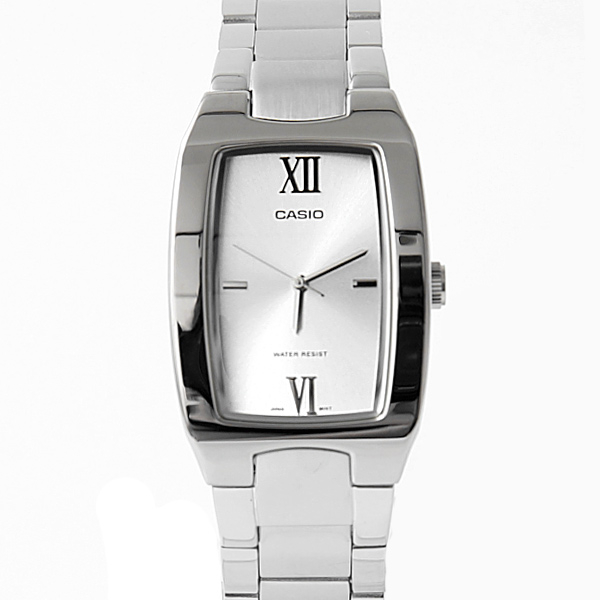 CASIO卡西歐羅馬數字銀色腕錶 簡約時尚 柒彩年代【NEC96】