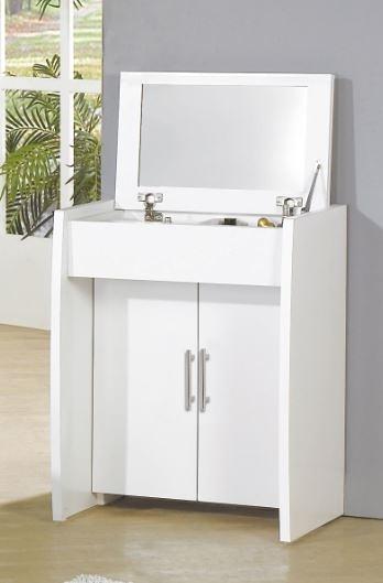 【森可家居】亞斯2尺白色掀式鏡台7JF074-2 梳化妝台 簡約北歐風 MIT台灣製造
