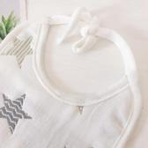寶寶防水加厚口水巾純棉紗系帶大圍嘴吸水圍兜嬰兒防吐奶嬰兒飯兜
