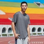 【GIORDANO】 男裝運動系列吸濕排汗素色短袖T恤-06 花紗深灰