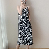 豹紋性感吊帶洋裝女2021年春夏新款可鹽可甜炸街裙子溫柔系穿搭 ATF艾瑞斯「快速出貨」