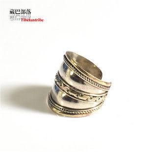 藏飾戒指 三色銅中寬開口