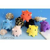 Hamee 日本 海底世界 深海魚 絨毛娃娃 手機吊飾 章魚 (任選) 390-892507