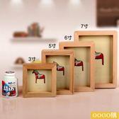 實木木馬相框相架擺臺家居飾品創意擺件 婚慶道具禮物3寸6寸