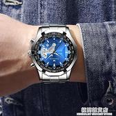 手表男韓版時尚大表盤男表防水夜光帶日歷商務男士石英表非機械表 極簡雜貨