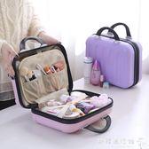化妝箱手提大容量方形大號女化妝品收納箱手提箱旅行隨身多層igo    歐韓流行館