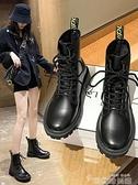 馬丁靴女2021年新款英倫風網紅瘦瘦加絨短靴秋冬季百搭雪地靴棉鞋 韓國時尚週