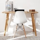 書桌實木簡約電腦桌臺式家用北歐現代臥室寫字臺學習桌辦公桌子YYP   蜜拉貝爾