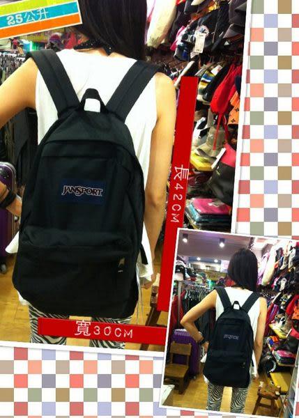 快速出貨 JANSPORT 原廠校園型後背包~ 黑色  (JS43501)
